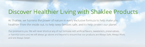 Get Your Shaklee Products Now!