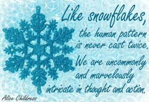 We Are Snowflakes